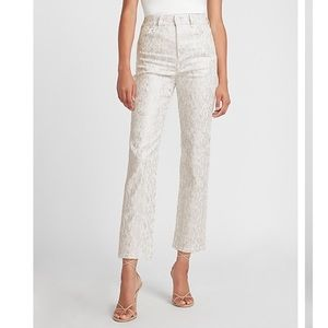 EXPRESS High Waisted Snakeskin Straight Pant
